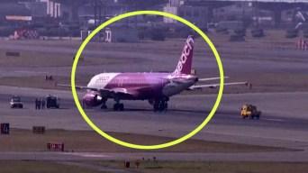 En video: estalla neumático de avión durante aterrizaje