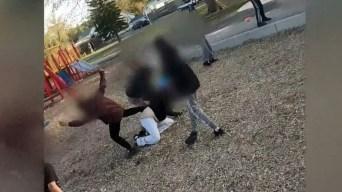 Niños propinan brutal paliza a una madre en un parque