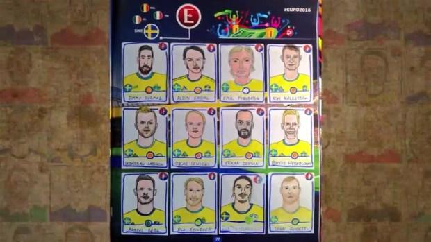 Una pareja dibujó a todos los futbolistas del Panini