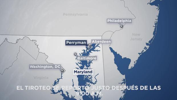 Varios muertos tras tiroteo en el condado Harford, Maryland