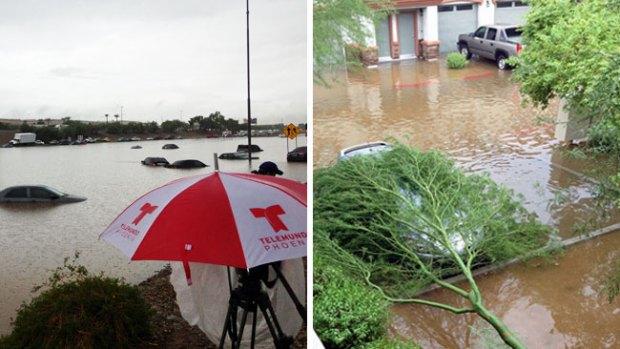 Fotos: Históricas inundaciones en Arizona