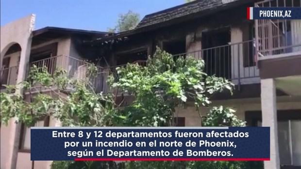 [TLMD - AZ] Incendio en departamentos en Phoenix