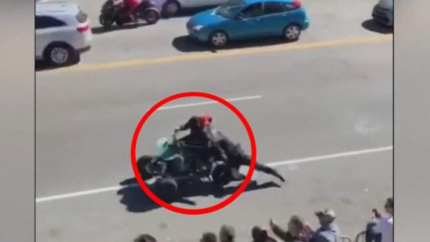 [TLMD - NATL] Video de infarto: oficial es arrastrado por una moto ATV