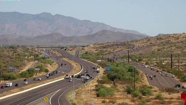 [TLMD - AZ] Mujer salió expulsada tras choque en la I-17