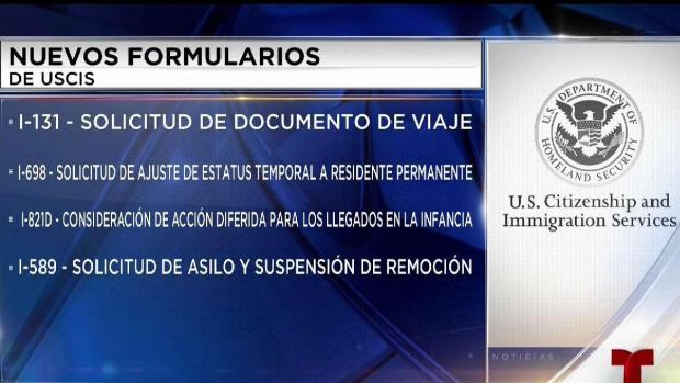 [TLMD - AZ] Nuevos formularios para trámites de inmigración