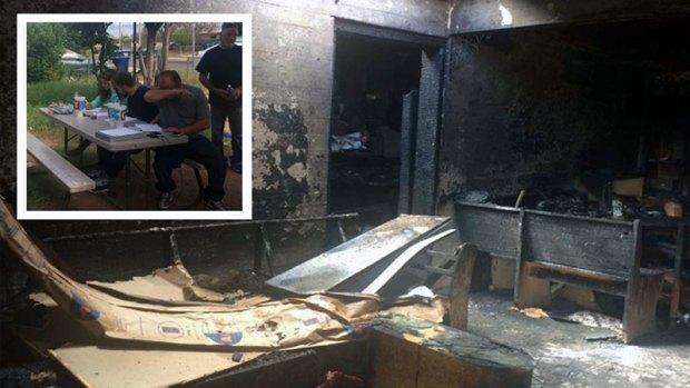 Fotos: Fuerte incendio deja sin hogar a toda una familia en Tucson