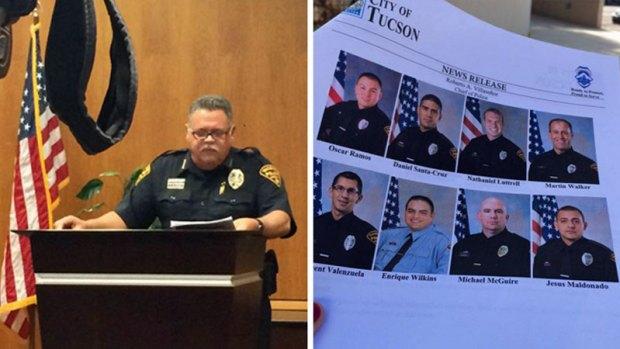 Fotos: Policías de Tucson involucrados en actividad criminal