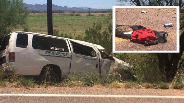 Fotos: Un muerto y cuatro heridos tras accidente al sur de Arizona