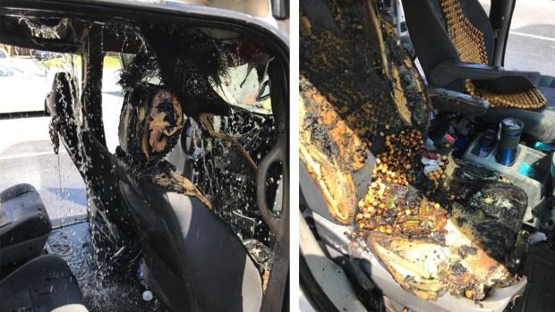 [TLMD - NATL] Lanzan advertencia por auto quemado al explotar popular juguete