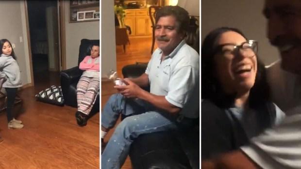 [TLMD - NATL] Viral: joven madre sorprende a padres inmigrantes con grata sorpresa