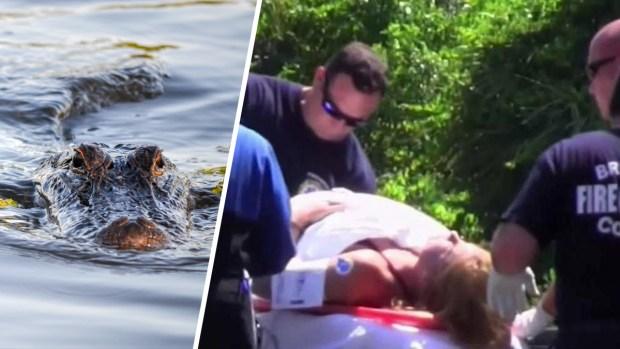 [TLMD - MIA] Se bañaba en un lago cuando fue atacada por un cocodrilo