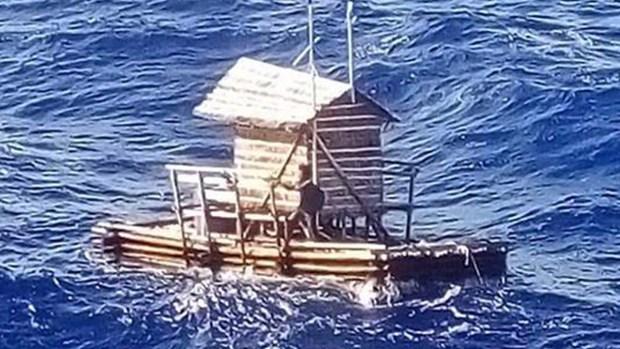 Increíble odisea mar adentro: estuvo 48 días en una trampa flotante