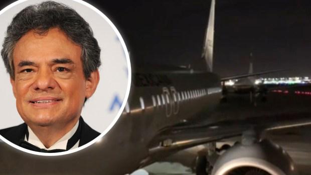[TLMD - LV] Adentro del avión que traslada las cenizas de José José