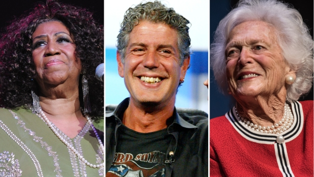 Los famosos que dijeron adiós en el 2018