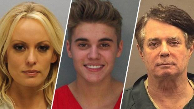Drogas, alcohol, y más: fotos policiales de los famosos