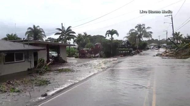 [TLMD - LV] En video: Hawái queda bajo el agua por la tormenta Lane