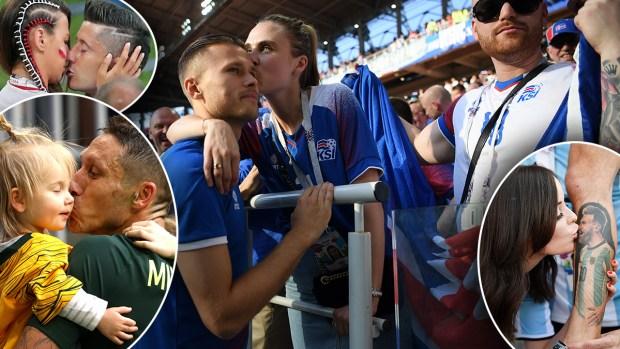 De consuelo, de apoyo y de celebración: estos son los besos del Mundial