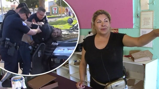 [TLMD - LA] Mujer relata momento cuando se vio cara a cara con sospechoso de apuñalamientos