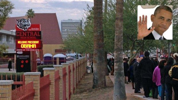 Fotos de la visita de Obama a Phoenix