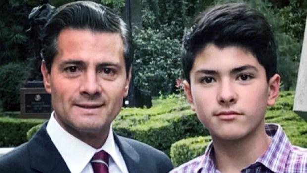 """Peña Nieto se acerca a """"Diego"""", su hijo fuera de matrimonio"""