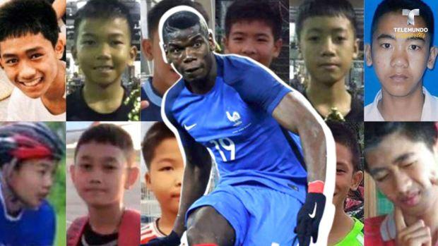 El buen gesto de Pogba con los niños tailandeses