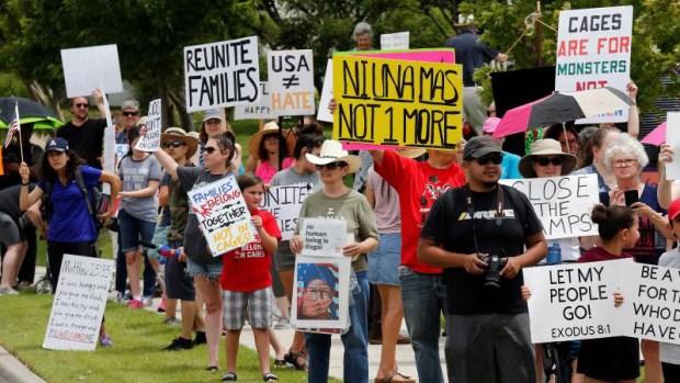 Numerosas protestas contra centros de detención