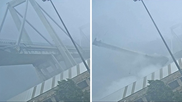 Video capta instante del desplome de un puente