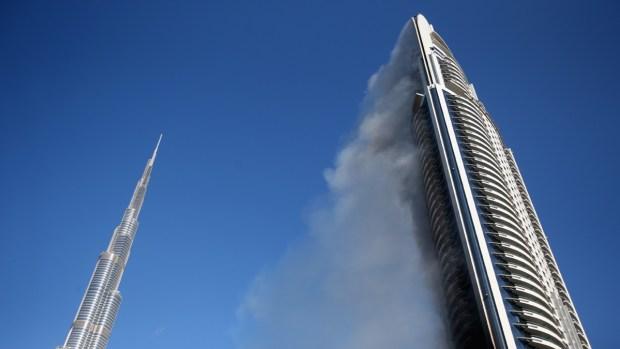 Fotos: rascacielos en Dubái en llamas