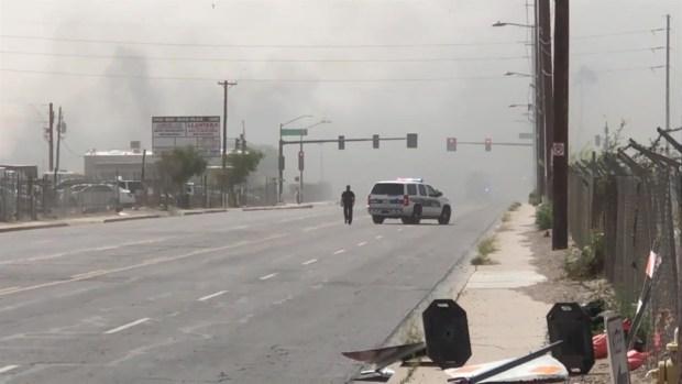 [TLMD - AZ] Alerta por incendio en calle Broadway
