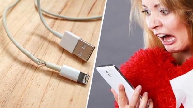 Los peligros de cargar tu celular con cables rotos