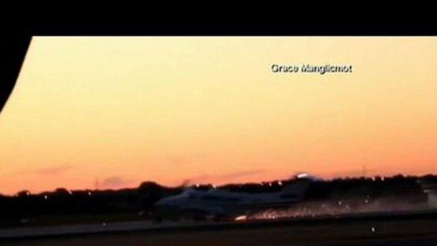 Video: Peligroso aterrizaje de emergencia