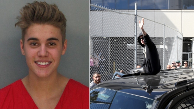 Video: Justin Bieber sale de la cárcel de Miami