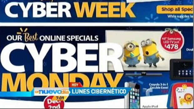Video: Locura de compras en lunes cibernético