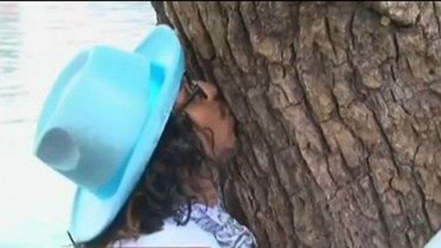 Video: Un hombre se casa con un árbol