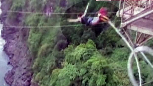 """Video: Maldito salto de """"Bungee"""""""
