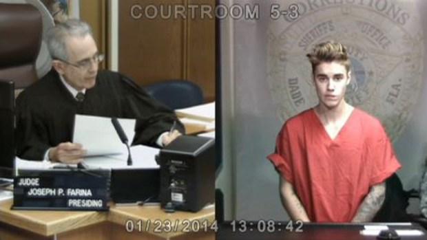 Video: Video: Justin Bieber comparece ante el juez