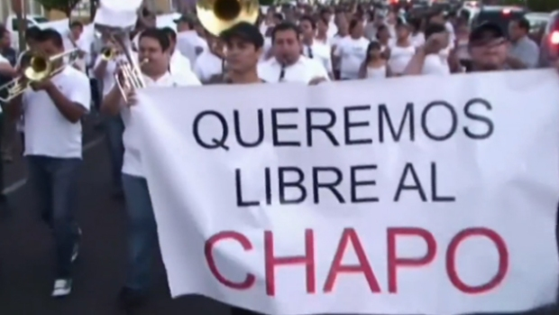 """Video: Investigan marcha a favor de """"El Chapo"""""""