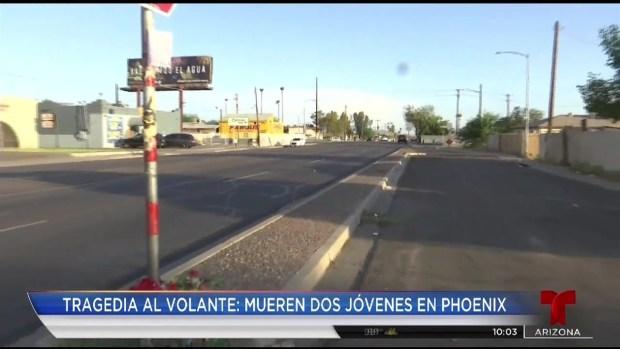 [TLMD - AZ] Tragedia al volante: mueren dos jóvenes en Phoenix