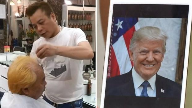 [TLMD - LV] Peluquería regala cortes de pelo al estilo Trump