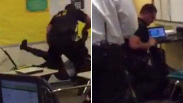 En video: Despiden a policía que agredió a estudiante