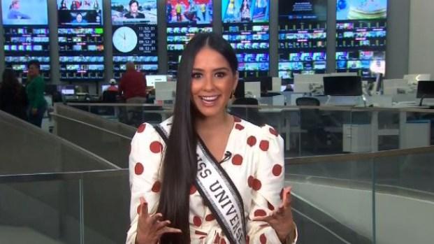Delegada de El Salvador se prepara para Miss Universo