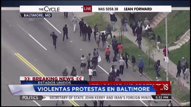 Violentas protestas en Baltimore