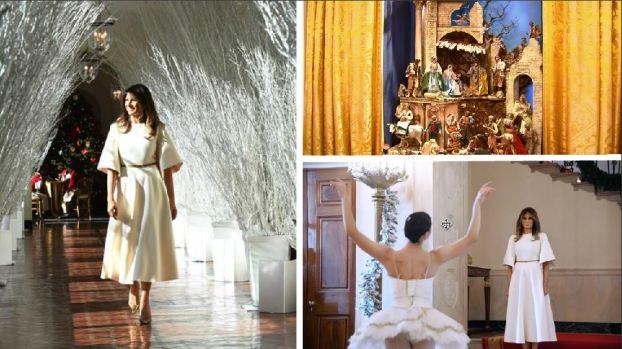 Melania Trump y su Navidad: Niño Jesús descubierto en la Casa Blanca