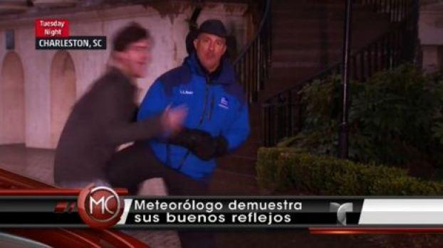 Video: Atacan a meteorólogo en vivo