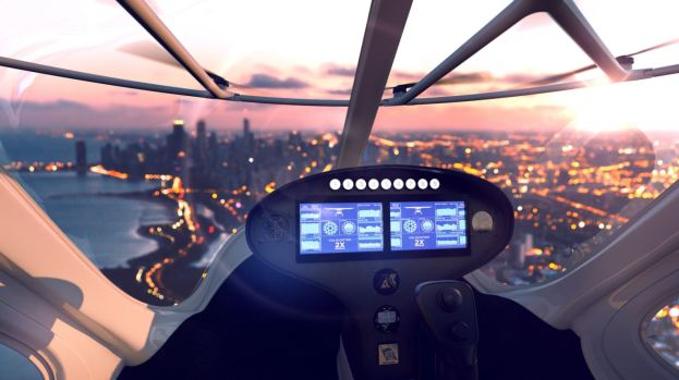 Taxi aéreo sin piloto hace histórico vuelo ante un príncipe