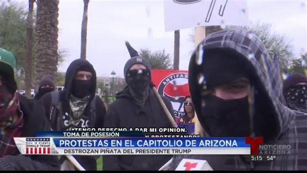 Protestas en Phoenix contra Trump