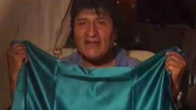 Evo Morales camino a México