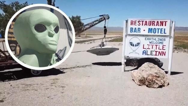 Pueblo cerca del Área 51 invita a gente a no ir