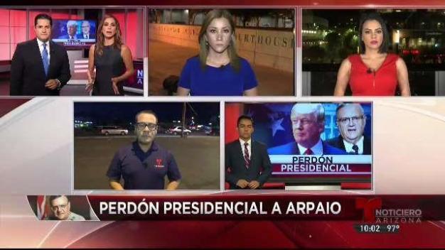Vía telefónica Arpaio reacciona ante indulto