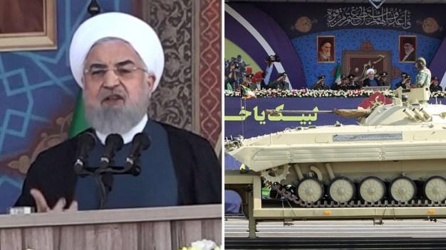 Irán muestra sus misiles en un desafiante desfile militar